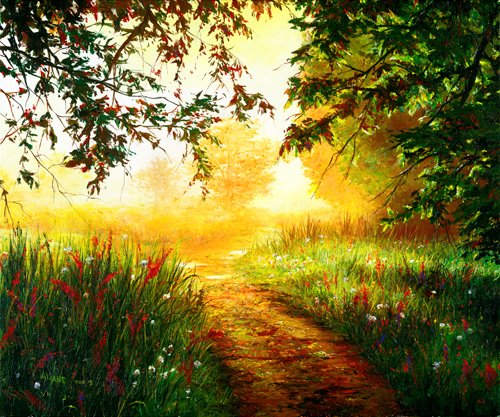 The path of passion leads to the place of purpose.  Art by http://www.akiane.com/